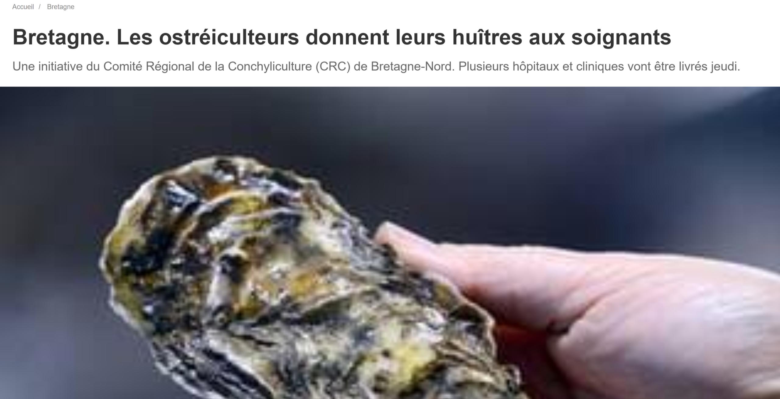 Ouest France Ostréiculteurs